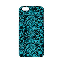 Damask2 Black Marble & Turquoise Colored Pencil (r) Apple Iphone 6/6s Hardshell Case