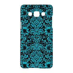 Damask2 Black Marble & Turquoise Colored Pencil (r) Samsung Galaxy A5 Hardshell Case