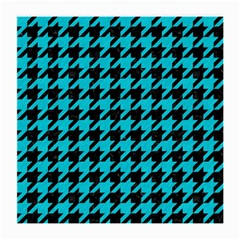 Houndstooth1 Black Marble & Turquoise Colored Pencil Medium Glasses Cloth