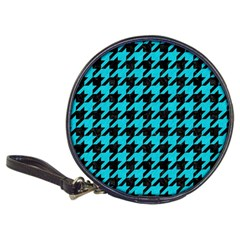 Houndstooth1 Black Marble & Turquoise Colored Pencil Classic 20 Cd Wallets