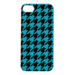 Houndstooth1 Black Marble & Turquoise Colored Pencil Apple Iphone 5s/ Se Hardshell Case