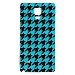 Houndstooth1 Black Marble & Turquoise Colored Pencil Galaxy Note 4 Back Case