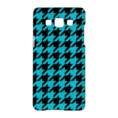 Houndstooth1 Black Marble & Turquoise Colored Pencil Samsung Galaxy A5 Hardshell Case