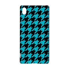 Houndstooth1 Black Marble & Turquoise Colored Pencil Sony Xperia Z3+