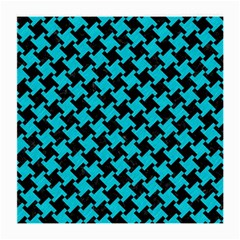 Houndstooth2 Black Marble & Turquoise Colored Pencil Medium Glasses Cloth