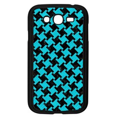 Houndstooth2 Black Marble & Turquoise Colored Pencil Samsung Galaxy Grand Duos I9082 Case (black)