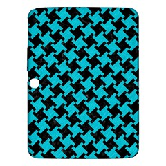 Houndstooth2 Black Marble & Turquoise Colored Pencil Samsung Galaxy Tab 3 (10 1 ) P5200 Hardshell Case