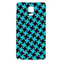 Houndstooth2 Black Marble & Turquoise Colored Pencil Galaxy Note 4 Back Case