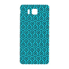 Hexagon1 Black Marble & Turquoise Colored Pencil Samsung Galaxy Alpha Hardshell Back Case