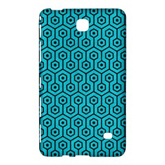 Hexagon1 Black Marble & Turquoise Colored Pencil Samsung Galaxy Tab 4 (8 ) Hardshell Case