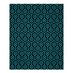 Hexagon1 Black Marble & Turquoise Colored Pencil (r) Shower Curtain 60  X 72  (medium)