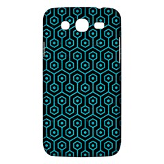 Hexagon1 Black Marble & Turquoise Colored Pencil (r) Samsung Galaxy Mega 5 8 I9152 Hardshell Case