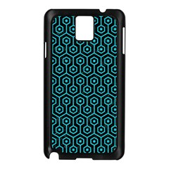 Hexagon1 Black Marble & Turquoise Colored Pencil (r) Samsung Galaxy Note 3 N9005 Case (black)