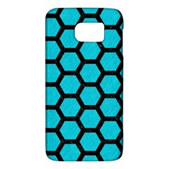 Hexagon2 Black Marble & Turquoise Colored Pencil Galaxy S6