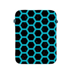 Hexagon2 Black Marble & Turquoise Colored Pencil (r) Apple Ipad 2/3/4 Protective Soft Cases