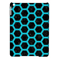 Hexagon2 Black Marble & Turquoise Colored Pencil (r) Ipad Air Hardshell Cases