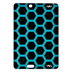 Hexagon2 Black Marble & Turquoise Colored Pencil (r) Amazon Kindle Fire Hd (2013) Hardshell Case