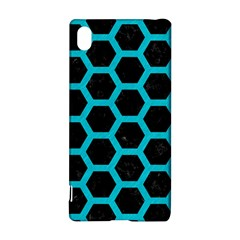 Hexagon2 Black Marble & Turquoise Colored Pencil (r) Sony Xperia Z3+