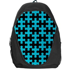 Puzzle1 Black Marble & Turquoise Colored Pencil Backpack Bag