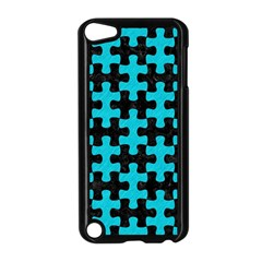 Puzzle1 Black Marble & Turquoise Colored Pencil Apple Ipod Touch 5 Case (black)