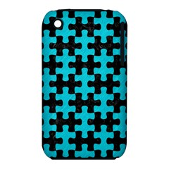 Puzzle1 Black Marble & Turquoise Colored Pencil Iphone 3s/3gs