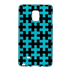 Puzzle1 Black Marble & Turquoise Colored Pencil Galaxy Note Edge