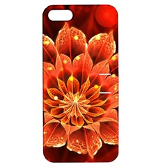 Beautiful Ruby Red Dahlia Fractal Lotus Flower Apple Iphone 5 Hardshell Case With Stand