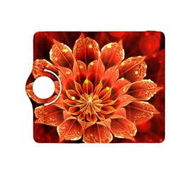 Beautiful Ruby Red Dahlia Fractal Lotus Flower Kindle Fire Hdx 8 9  Flip 360 Case