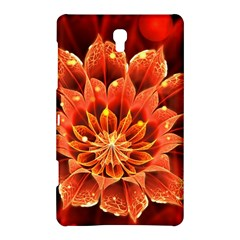 Beautiful Ruby Red Dahlia Fractal Lotus Flower Samsung Galaxy Tab S (8 4 ) Hardshell Case