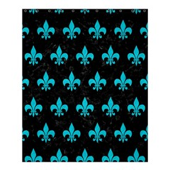 Royal1 Black Marble & Turquoise Colored Pencil Shower Curtain 60  X 72  (medium)