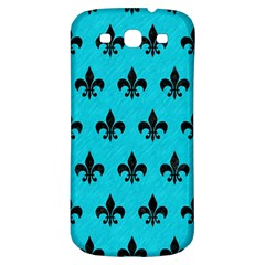 Royal1 Black Marble & Turquoise Colored Pencil (r) Samsung Galaxy S3 S Iii Classic Hardshell Back Case