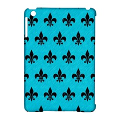 Royal1 Black Marble & Turquoise Colored Pencil (r) Apple Ipad Mini Hardshell Case (compatible With Smart Cover)