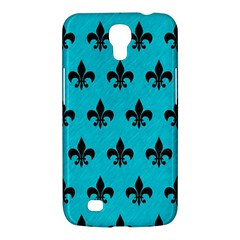 Royal1 Black Marble & Turquoise Colored Pencil (r) Samsung Galaxy Mega 6 3  I9200 Hardshell Case