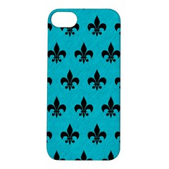 Royal1 Black Marble & Turquoise Colored Pencil (r) Apple Iphone 5s/ Se Hardshell Case