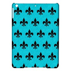 Royal1 Black Marble & Turquoise Colored Pencil (r) Ipad Air Hardshell Cases