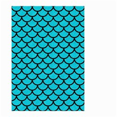 Scales1 Black Marble & Turquoise Colored Pencil Small Garden Flag (two Sides)