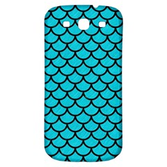 Scales1 Black Marble & Turquoise Colored Pencil Samsung Galaxy S3 S Iii Classic Hardshell Back Case