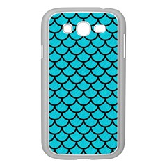 Scales1 Black Marble & Turquoise Colored Pencil Samsung Galaxy Grand Duos I9082 Case (white)