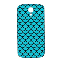 Scales1 Black Marble & Turquoise Colored Pencil Samsung Galaxy S4 I9500/i9505  Hardshell Back Case