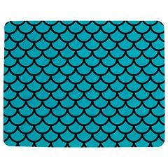 Scales1 Black Marble & Turquoise Colored Pencil Jigsaw Puzzle Photo Stand (rectangular)