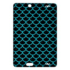 Scales1 Black Marble & Turquoise Colored Pencil (r) Amazon Kindle Fire Hd (2013) Hardshell Case