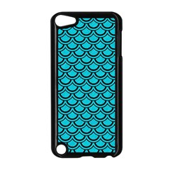 Scales2 Black Marble & Turquoise Colored Pencil Apple Ipod Touch 5 Case (black)