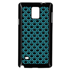 Scales2 Black Marble & Turquoise Colored Pencil (r) Samsung Galaxy Note 4 Case (black)