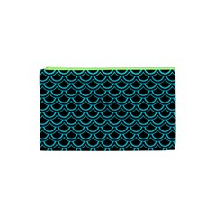 Scales2 Black Marble & Turquoise Colored Pencil (r) Cosmetic Bag (xs)