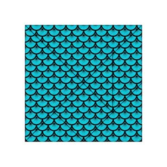 Scales3 Black Marble & Turquoise Colored Pencil Acrylic Tangram Puzzle (4  X 4 )