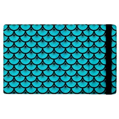 Scales3 Black Marble & Turquoise Colored Pencil Apple Ipad 2 Flip Case