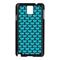 Scales3 Black Marble & Turquoise Colored Pencil Samsung Galaxy Note 3 N9005 Case (black)