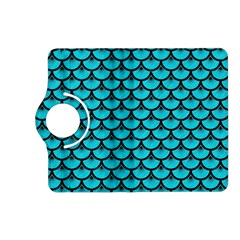 Scales3 Black Marble & Turquoise Colored Pencil Kindle Fire Hd (2013) Flip 360 Case