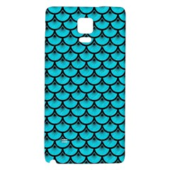 Scales3 Black Marble & Turquoise Colored Pencil Galaxy Note 4 Back Case