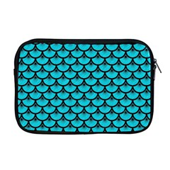 Scales3 Black Marble & Turquoise Colored Pencil Apple Macbook Pro 17  Zipper Case